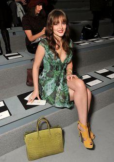 Leighton Meester Photos Photos  Vera Wang - Front Row - Fall 2012  Mercedes-Benz Fashion Week 8b91eeecc2