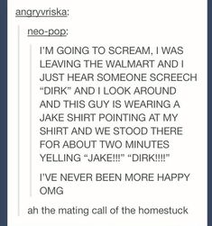 The mateing call of a homestuck