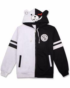 d1bd51e95 Anime Danganronpa Monokuma Unisex Jacket Hoodie Sweatshirt M-2xl