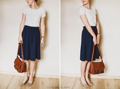 handmade clothing: jersey skirt | little home by hand blog