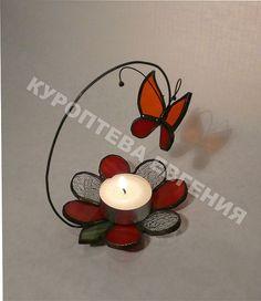 Купить Подсвечники - подсвечники, витражный светильник, стекло