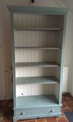 Solid Pine Bookcase Painted In Paris Grey By Annie Sloan And Given A White Wax Paint All The Things Pinterest
