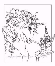 Image Result For Cute Fairies Riding Unicorns Coloring Page