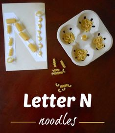 Simple is often best. This Letter N Activity can be done using objects you probably already have in your home.