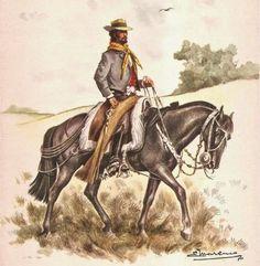 Resultado de imagen para proyectos a realizar laminas de Eleodoro Marenco Rio Grande Do Sul, Cowboy Art, American War, Western Art, Horse Art, Westerns, Horses, Cartoon, History