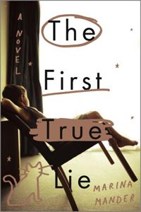 The First True Lie by Marina Mander. When his mother doesn't wake up one morning, Luca, a curious young boy, along with his cat Blue, decides to pretend to the world that his mom is still alive, while grappling the fact that his mother's decaying body is still within his home