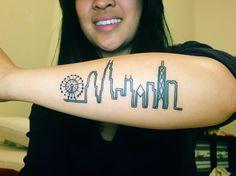 My Chicago skyline tattoo ❤