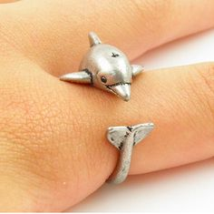 FAST US Shipping US Shipping Size Is Adjustable Our Wildrings rescue jewelry collection does something other than look cool For each ring we sell we donate 10 of profi. Jewelry Rings, Jewelry Accessories, Women Jewelry, Ladies Jewelry, Jewlery, Boho Chic, Dolphin Jewelry, Animal Rings, Look Cool