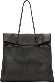 Maison Margiela - Black Leather Foldover Tote