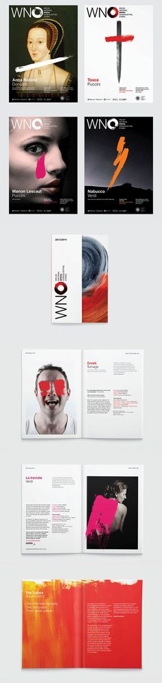 Welsh National Opera identity 2013/14 :: http://www.hat-trickdesign.co.uk