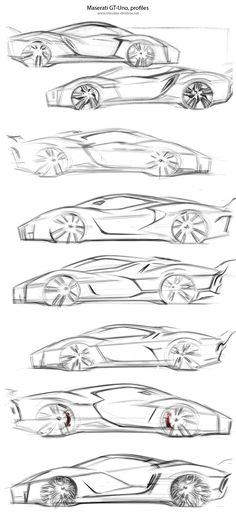 Side sketches of cars Car Side View, Preppy Car, Car Design Sketch, Design Art, Industrial Design Sketch, Continental, Car Illustration, Hand Sketch, Car Drawings