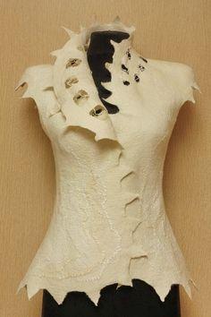 Soft nets / Felted Clothing / Vest by LybaV on Etsy