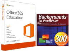 300 PowerPoint Backgrounds with FREE Microsoft Office 365 Education (Win/Mac) – thinkEDU.com Online Store