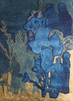 Digital Collage, Collage Art, Sun Prints, Feuille D'or, Cyanotype, Blue Aesthetic, Light In The Dark, Dark Blue, Art Forms