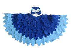 Kinder Vogel Kostüm, Blue Macaw Arara Papagei Wings und Maske Kind verkleiden sich Spielzeug, Rio, Mädchen und jungen, Kleinkinder auf Etsy, 63,00€