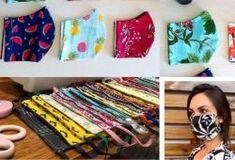 Como fazer máscara de crochê com gráficos e passo a passo - Artesanato Passo a Passo! Bandana Bow, Easy Face Masks, Cd Art, Painted Flower Pots, Fathers Day Crafts, Bottle Crafts, Handmade Crafts, Sewing Hacks, Paper Flowers