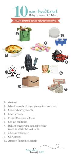 maternity leaving 10 non traditional baby shower gift ideas