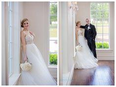 Bride and Groom inside at Milestone Krum Wedding by brittanybarclay.com
