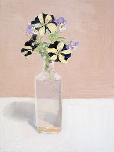 Petunias and Pansies | From a unique collection of still-life paintings at https://www.1stdibs.com/art/paintings/still-life-paintings/
