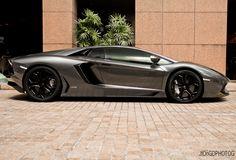 #Lamborghini Aventador in metallic gray