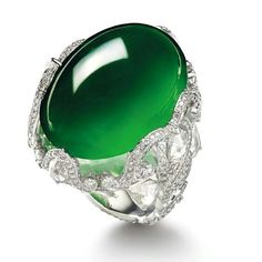 Jadeite, diamond and rock crystal ring, by Wallace Chan. @wallacechanart #jadeite #imperialjade #highjewelry #pieceunique #hongkong
