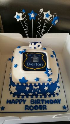 Everton FC Birthday Cake Birthday Cakes Pinterest Birthday