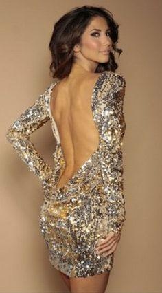 Leliluna Collection Backless Sequin Dress