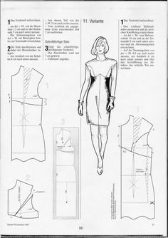 Dart and seam variation for dresses - Women's Cutter and Tailor Easy Sewing Patterns, Clothing Patterns, Dress Patterns, Sewing Clothes, Diy Clothes, Pattern Draping, Patron Vintage, Pattern Cutting, Sewing Techniques