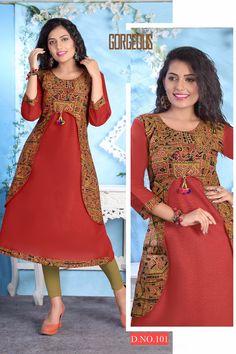 Specification :NAME : M-Mona Vol-2TOTAL DESIGN : 10PER PIECE RATE : 315/-FULL CATALOG RATE : 3150/-+(5%GST) + Shipping ChargeWEIGHT : 5SIZE : L   XL   XXLType : Designer KurtisMOQ : Minimum 10 Pcs.Fabrics : Cotton slub Salwar Neck Designs, Churidar Designs, Dress Neck Designs, Blouse Designs, Frock Style Kurti, Kurti Sleeves Design, Frock For Women, Kurti Designs Party Wear, Pakistani Dress Design