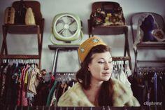 Maeberry Vintage hats, purses, and coats...