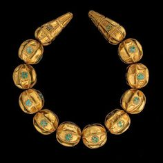 Jewelry from the exhibition , Afghanistan: Hidden Treasures from the National Museum , Kabul. Part of the Bactrian Hoard. ~2,000 years old Read the article here http://cs.jewelrymakingmagazines.com/BAJCS/blogs/beadandbutton/archive/2009/03/23/the-bactrian-hoard-an-epic-story-of-jewelry-in-the-middle-east.aspx Very interesting.