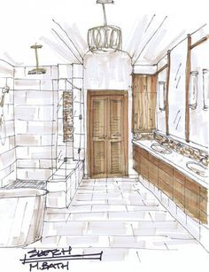 before and after a traditional builder grade bathroom is made modern by interior