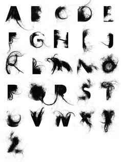 Graffiti alphabet >> alphabet letter a-z hair alphabet design Alphabet Graffiti, Typography Alphabet, Typography Fonts, Graffiti Art, Alphabet Design, Creative Typography, Graphic Design Typography, Graphisches Design, Logo Design
