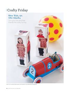 Sweet Paul - Cute idea...make blocks of a child using a photo