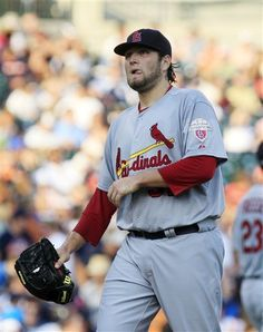 Starting Pitcher Lance Lynn- don't take it so hard there Lynn, u are still one of the best pitchers in the NL  <3  6-19-12