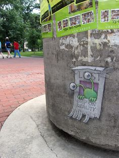 David Zinn With Sluggo at The Diag (July 26, 2013)