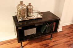 Hey, I found this really awesome Etsy listing at https://www.etsy.com/listing/240176384/steel-and-pine-wood-media-table