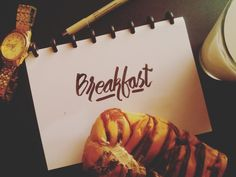 Typography - breakfast -typeverything - type - art