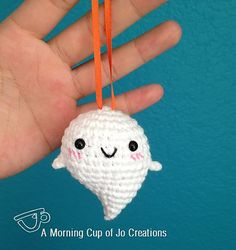 Baby Ghost Ornament for Halloween by A Morning Cup of Jo Creations