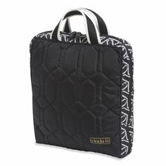 Cosmetic Bag II- Vertical, Jet Set Black @organizingstore