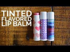 DIY TINTED & FLAVORED LIP BALM - Mad in Crafts