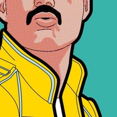 Pop Music… Tribute to great FreddieYou can find Pop music and more on our website.Pop Music… Tribute to great Freddie Freddie Mercury, Pop Art Drawing, Art Drawings, Drawing Ideas, Art And Illustration, Comic Art, Impression Poster, Tableau Pop Art, Pop Art Wallpaper