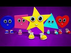 shapes finger family | learn shapes | nursery rhymes | 3d rhymes | kids songs | childrens rhymes - YouTube