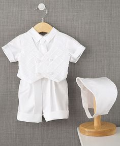 Lauren Madison Baby Suit, Baby Boys Christening Suit with Diamond Pleated Vest - Kids Special Occasion - Macy's