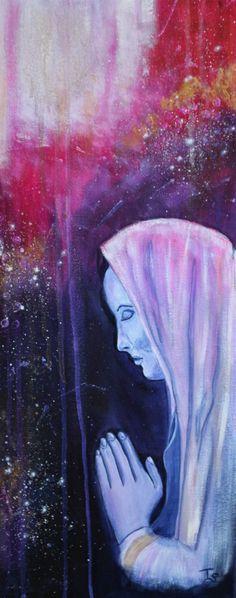 Modern Spiritual Art on canvas Canvas Size, Canvas Art, Prayer Pictures, Woman Painting, Figurative, Original Paintings, Prayers, Spirituality, Wall Art