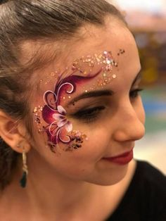 Melissa K Face Painting Eye design - Body Painting Face Painting Flowers, Eye Face Painting, Adult Face Painting, Face Paint Makeup, Belly Painting, Face Painting Designs, Face Art, Face Paintings, Painting Art