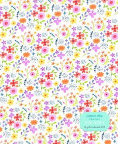 painted ditsy floral by jill mcdonald