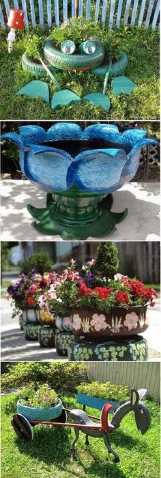 Use old tires... Great Idea for Garden!!! | Outdoor Areas