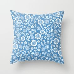 Butterfly+Florals+by+Andrea+Lauren+Throw+Pillow+by+Andrea+Lauren+Design+-+$20.00