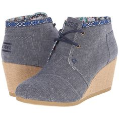537de5b93af BOBS from SKECHERS High - Notes (Navy) Women s Wedge Shoes ( 45) ❤ liked on Polyvore  featuring shoes